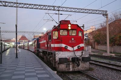 TCDD DE22 013, Izmir Basmane, 32601 07.40 to Uşak 'Uşak Ekspresi' - 16/11/19