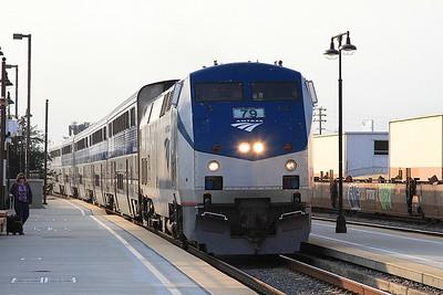 Amtrak 79 arr Glendale, 761 07.35 Los Angeles-San Luis Obispo - 25/08/16.