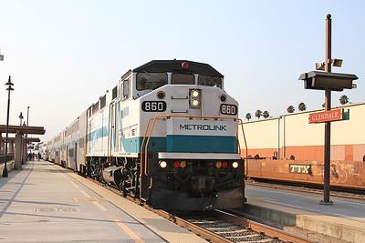 Metrolink 860, Glendale, 205 08.25 Los Angeles-Lancaster - 25/08/16.