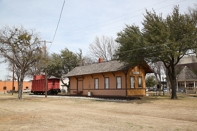 The Heritage Crossing bit in Irving - a station building, relocated from elsewhere and restored, now sits close to the original station site in Irving - 08/03/19
