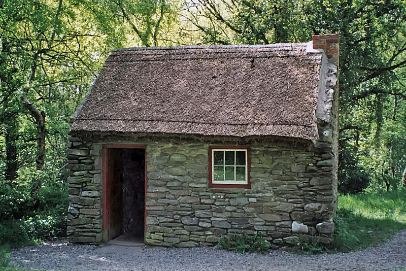 Cottier's Cottage at the Ulster American Folk Park<br /> My Grandmother Presumably Lived in Such a Place
