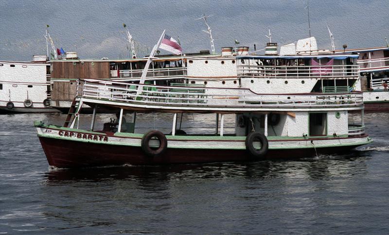 Amazon river boat.