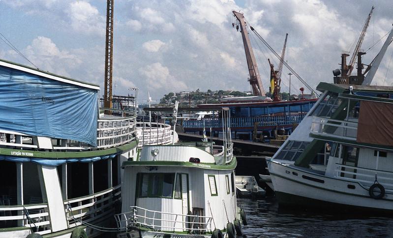 A jumble of boats.