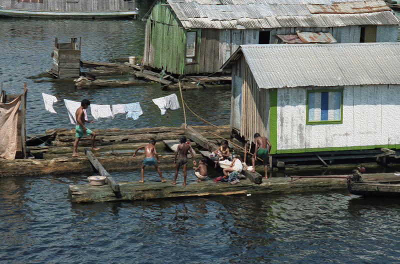 Children at play in the area between the Rio Negro and the Rio Solimões.
