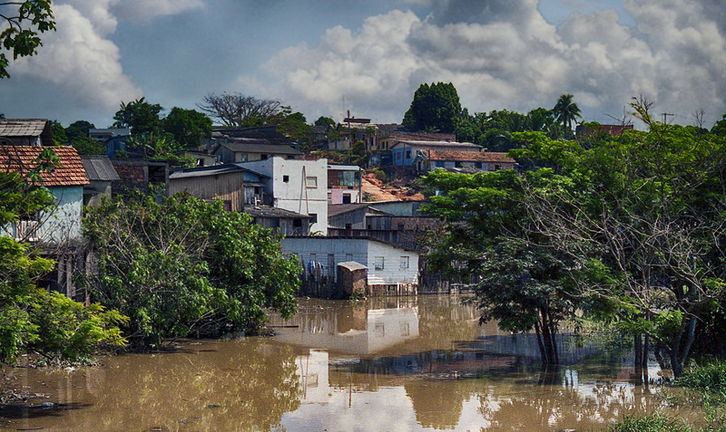 Favela in the heart of Manaus.