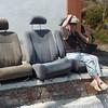 M on Car Seat