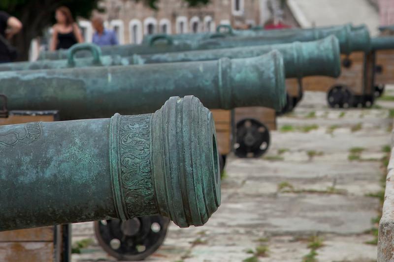 Cannons at the fort San Carlos de la Cabana in Havana, Cuba