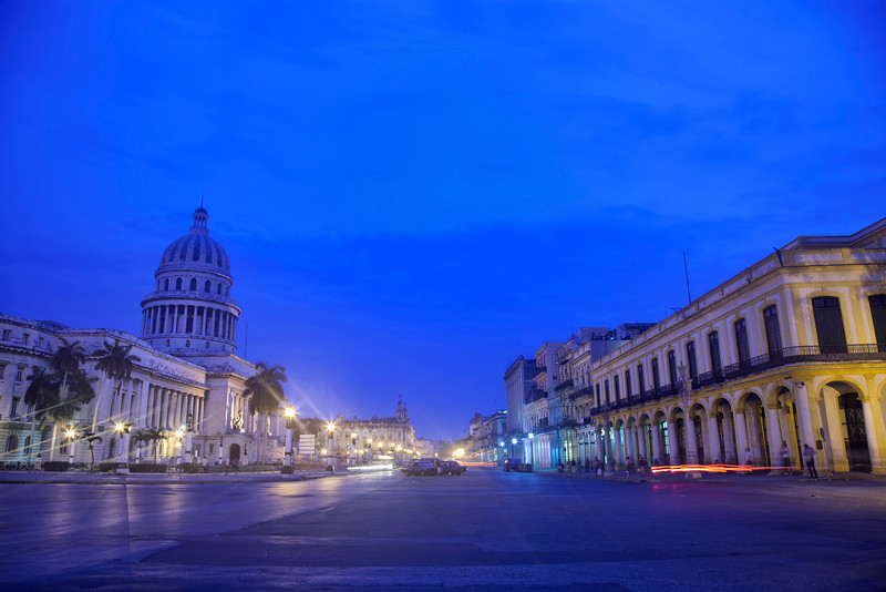 Early Morning View of the Capital in Havana, Cuba
