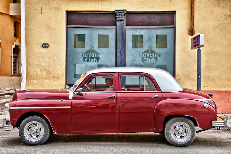 1949 Dodge in front of Havana Club, Havana, Cuba