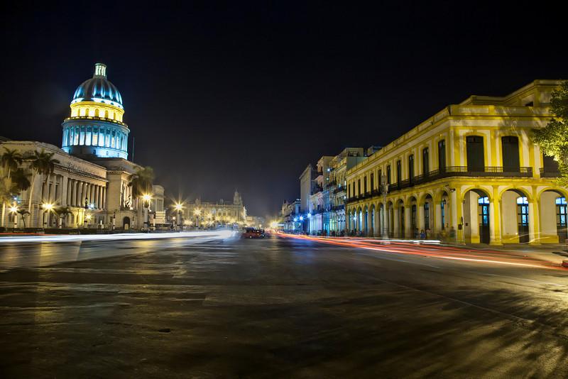 The Cuban Capital Building at night
