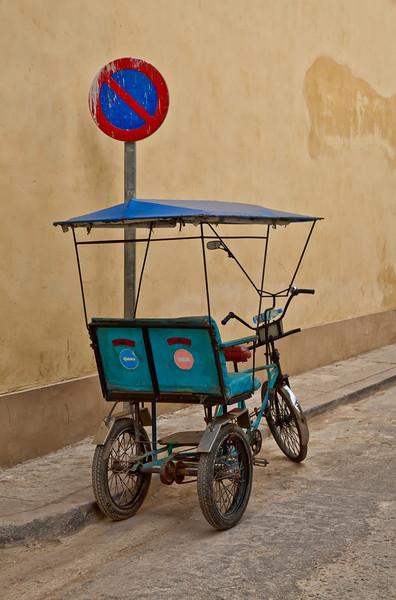 A Cycle Taxi in Havana, Cuba