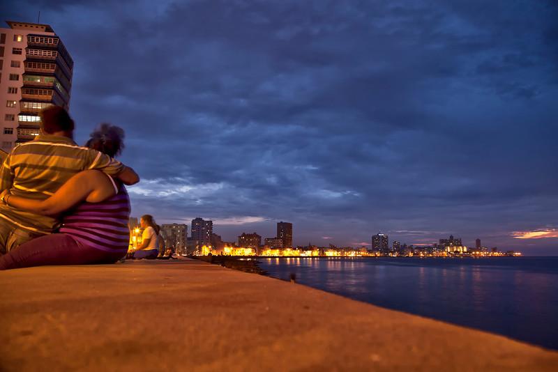 Evening View along the Malicon, Havana, Cuba