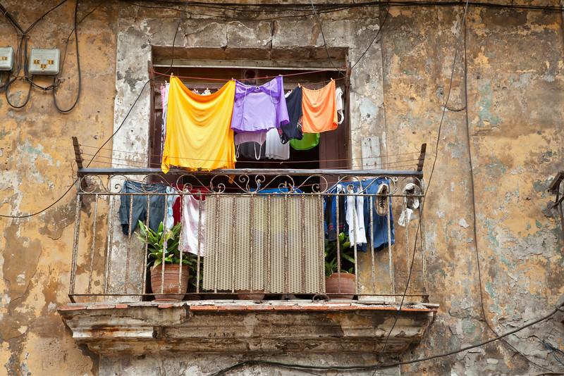 Clothes Drying, Havana, Cuba