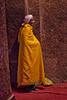 Worshiper Inside a Lalibela Church