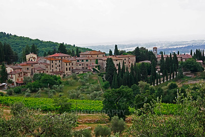 Tuscany, known for Chianti red Italian wine