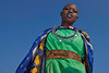 A Masai Woman dressed in traditional clothing