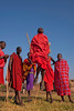 Masai warriors singing and jumping