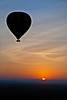 Hot Air Ballooing on the Masai Mara at sunrise