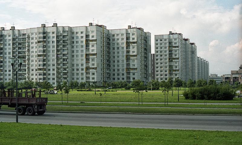 Suburban Leningrad near the Memorial to the Siege of Leningrad.