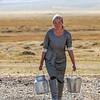 Woman of the house near Altai Tavan Bogd National Park area