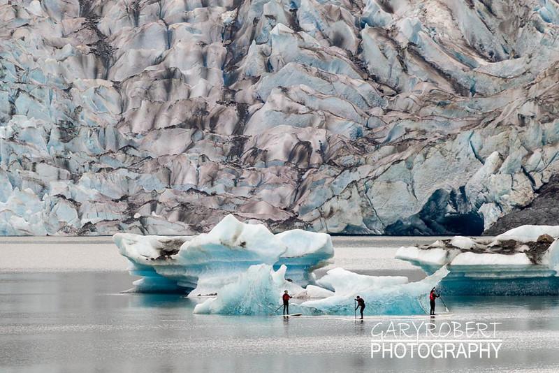 Boarding at Mendenhall Galcier, Alaska
