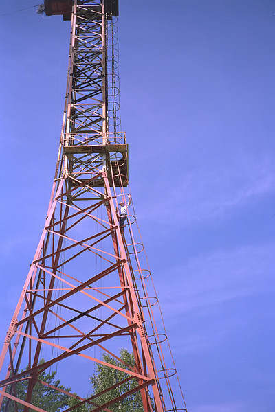 Bob on One of the Two 50 Meter Towers<br /> April, 1993