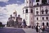 Inside the Kremlin Walls is a Place of Beauty<br /> Cathedral of the Archangel & Ivan the Great Bell Tower<br /> September, 1989