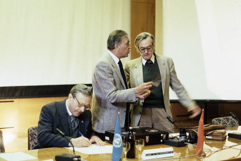 Kirill Kondratyev, Ichtiaque Rasool, Hans-Jurgen Bolle in Yalta