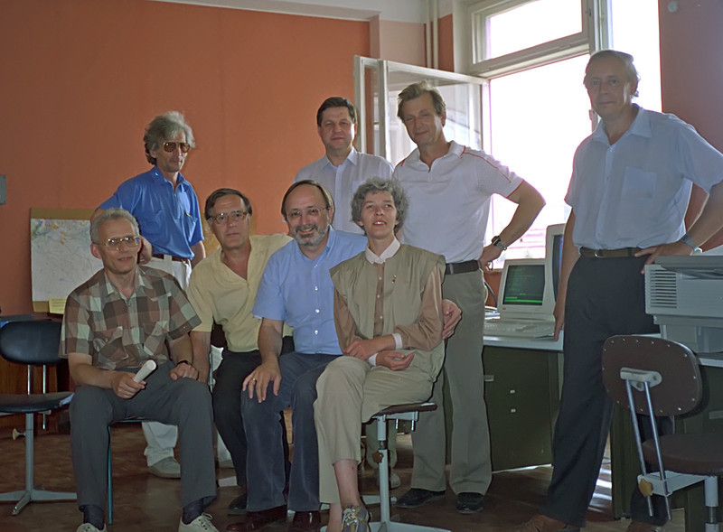 Krasynorask Research Station Group Photo<br /> April, 1993