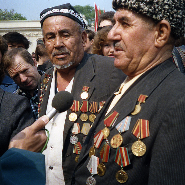 Comrades, Their Medals and There Stories<br /> Victory Day Celebration at Gorky Park, Moscow<br /> May, 1994