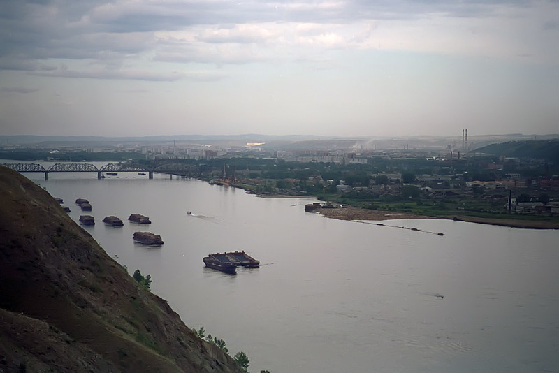 Krasnoyarsk from the Akademgorodok<br /> April, 1993