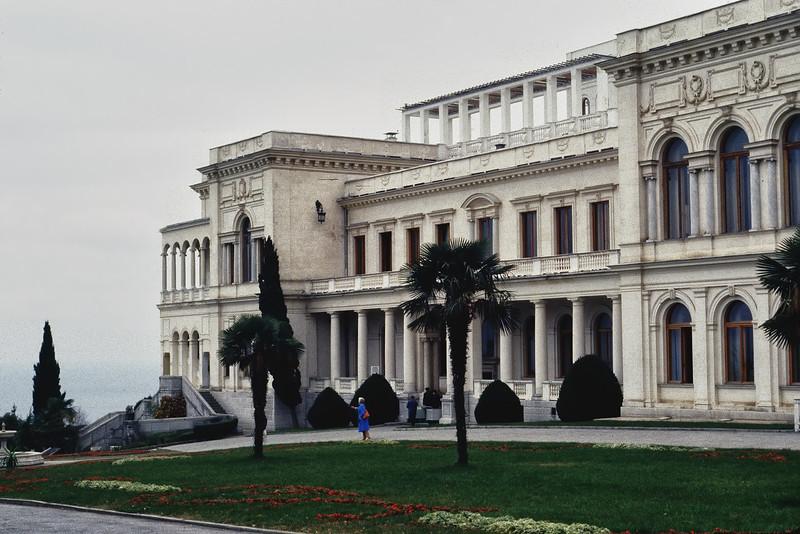 The Livadia Palace near Yalta where Churchill, Roosevelt & Stalin Met During World War II<br /> November, 1987