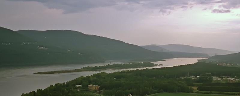 The Mighty Yenisee River from the Akademgorodokin Krasnoyarsk, Siberia<br /> April, 1993