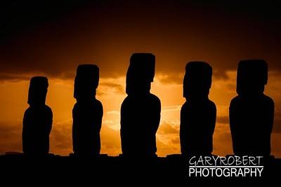 Moai at Sunrise
