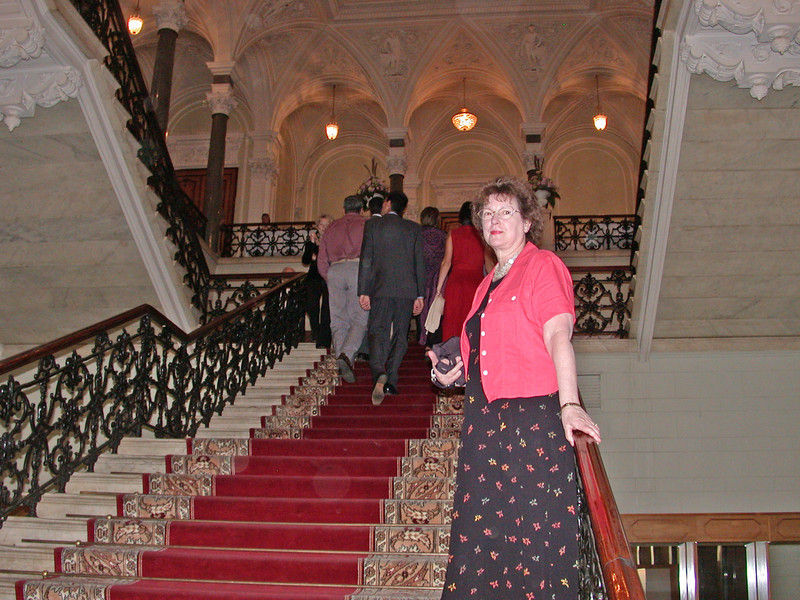 Nancy on the Grand Staircase