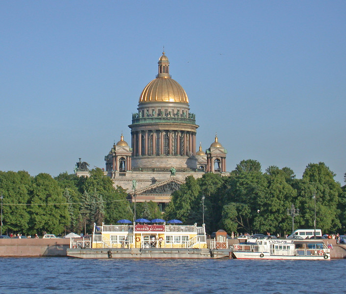 St Isaac's Cathedral from the Neva River