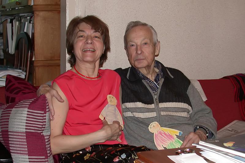 Svetlana and Kirill Kondratyev in Their Home