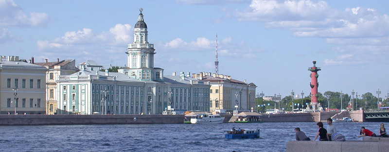 The Rostral Columns from the Neva River