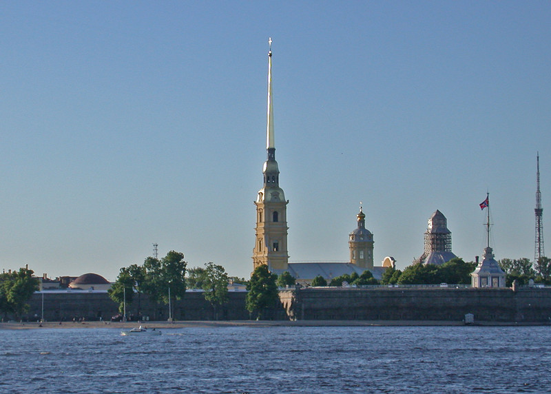 The Peter and Paul Fortress from the Neva River