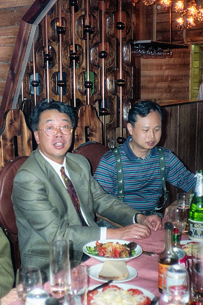 The dining area in the Ontario Hotel. We met the two Chinese men pictured here on the flight in from Khabarovsk (Хабаровск). I will write more of them later.