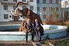 Ed and me in front of the Permafrost Institute and a model of a mammoth. I visited this institute as part of the scientific discussions as to how we wold utilize the satellite data in possibly joint projects. The visit featured a fascinating visit to their tunnel into the permafrost, and a lengthy discourse (in Russian, with minimal interpretation) on Permafrost by the director of the institute. He talked for over an hour, and I learned quite a few interesting things about permafrost, but it was way more than my jet-lagged (and vodka-soaked?) brain could encompass. I nearly fell asleep in his face, but when he ended his long discourse I politely asked a small question to show interest. That launched him into another 30 minute lecture, with no pauses for breathing. I probably did fall asleep, but later vowed to be careful about asking polite questions of over-bearing speakers.