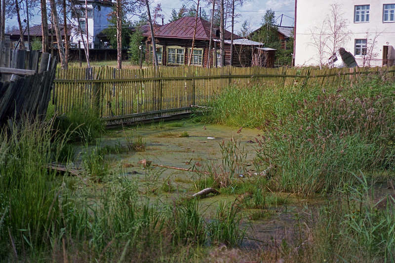 The water-soaked grounds around ROSHYDROMET. It is no wonder that they have a mosquito (комар) problem.