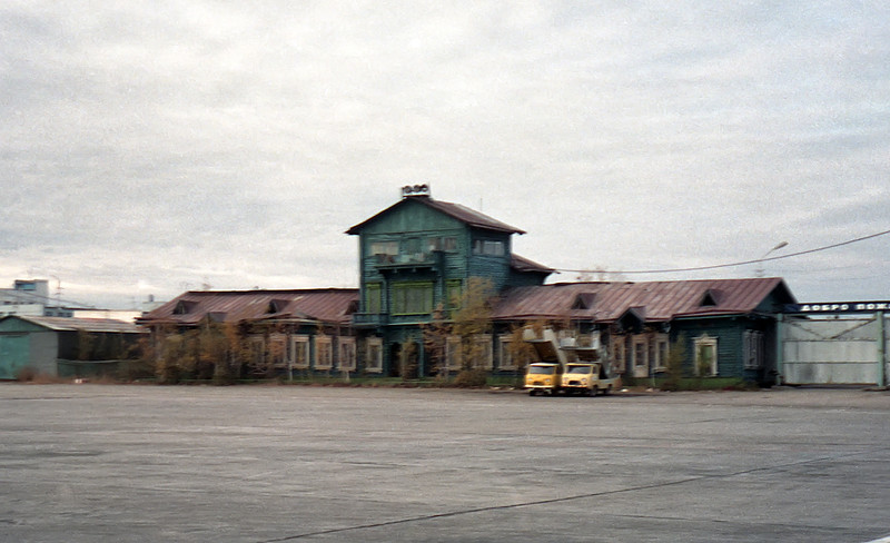 Maintenance building of the Yakutsk Airport ... a measure of the poverty of this region.