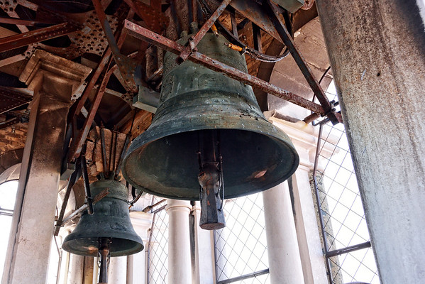 The bell tower of Saint Mark's cathedral in Venice, Italy