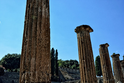 Columns in the ruins of Pompeii