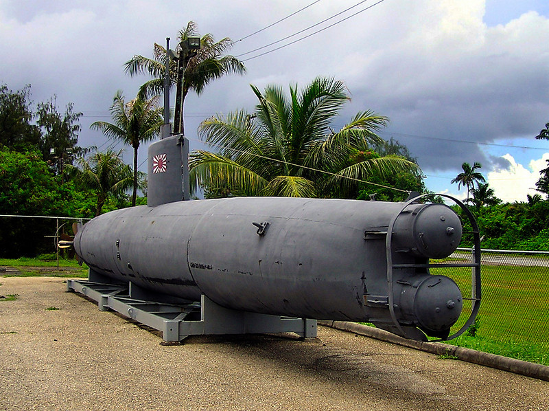 Captured WWII mini sub. July 2005.