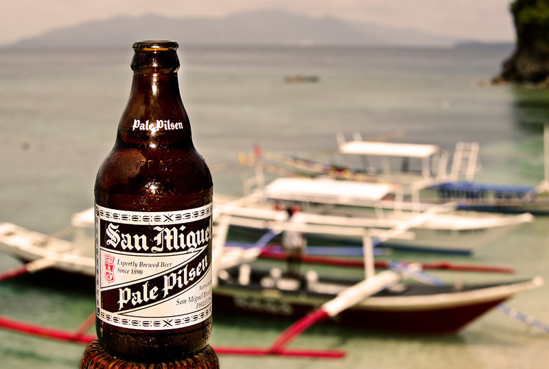 San Miguel at the beach.  Happy place, happy times.