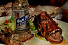 "After-dinner carnage...  Bondi seafood restaurant ""lapu-lapu"" (grouper)"