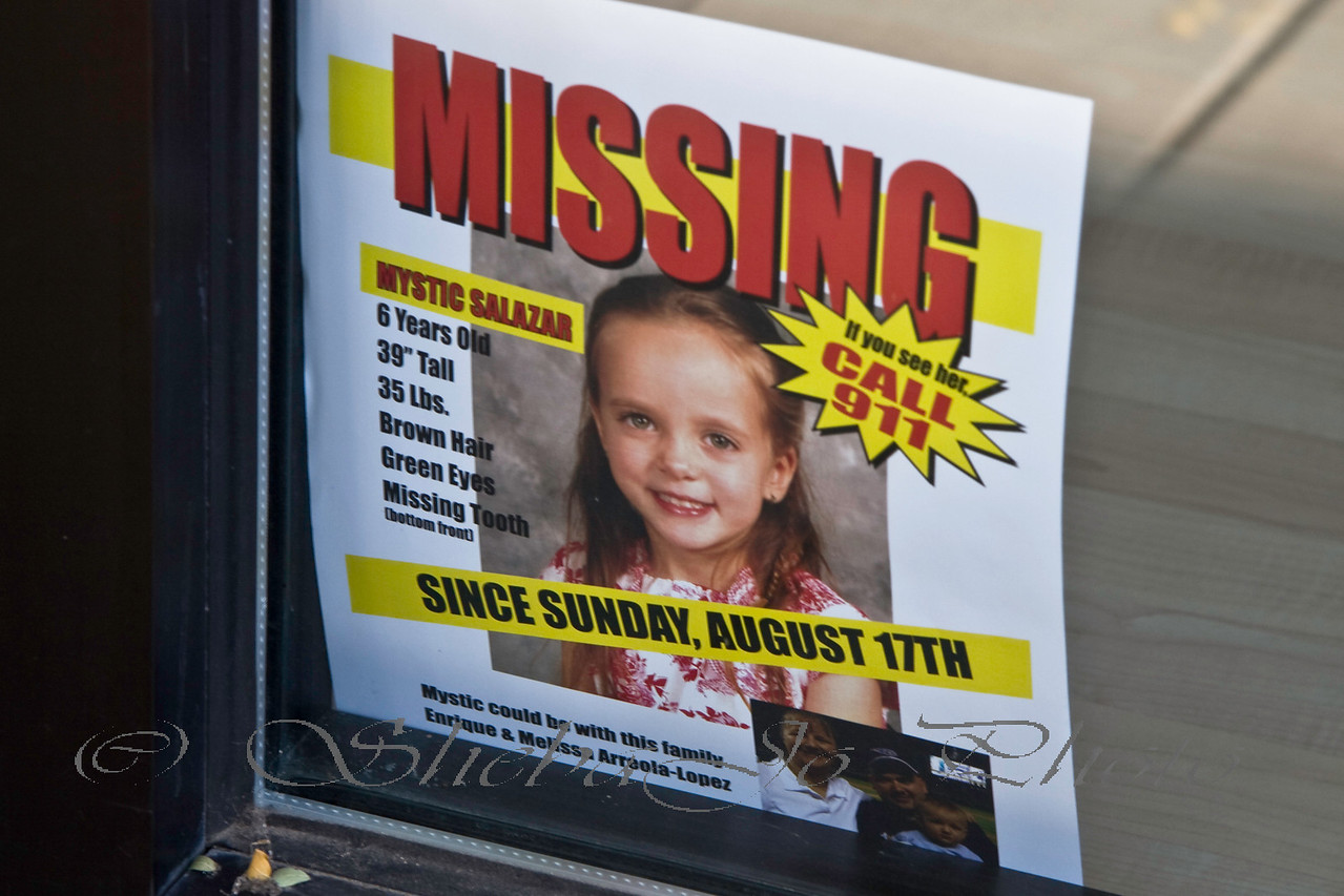 flyer in many downtown windows... it be cool if our fun walk, helped locate this girl.