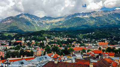 View of Innsbruck, Clock Tower, Austria